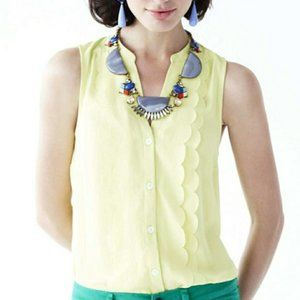 ANTHROPOLOGIE Scalloped Button Up Tank Top {GG24}